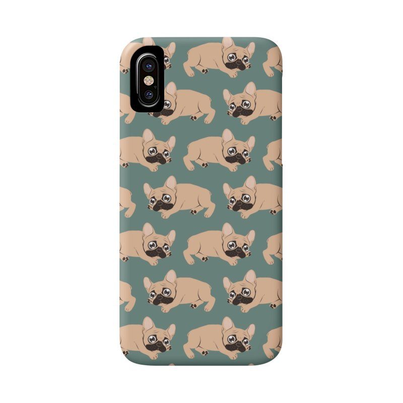 Black Mask Frenchie Puppy Needs Your Love Accessories Phone Case by Emotional Frenchies - Cute French Bulldog T-shirts