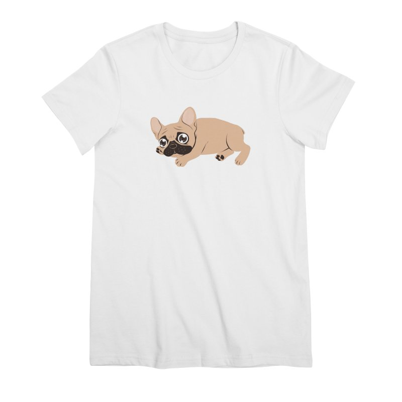 Black Mask Frenchie Puppy Needs Your Love Women's Premium T-Shirt by Emotional Frenchies - Cute French Bulldog T-shirts