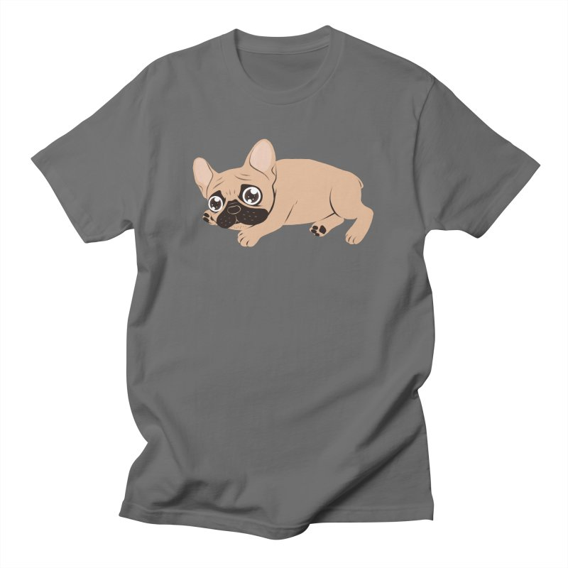 Black Mask Frenchie Puppy Needs Your Love Men's T-Shirt by Emotional Frenchies - Cute French Bulldog T-shirts