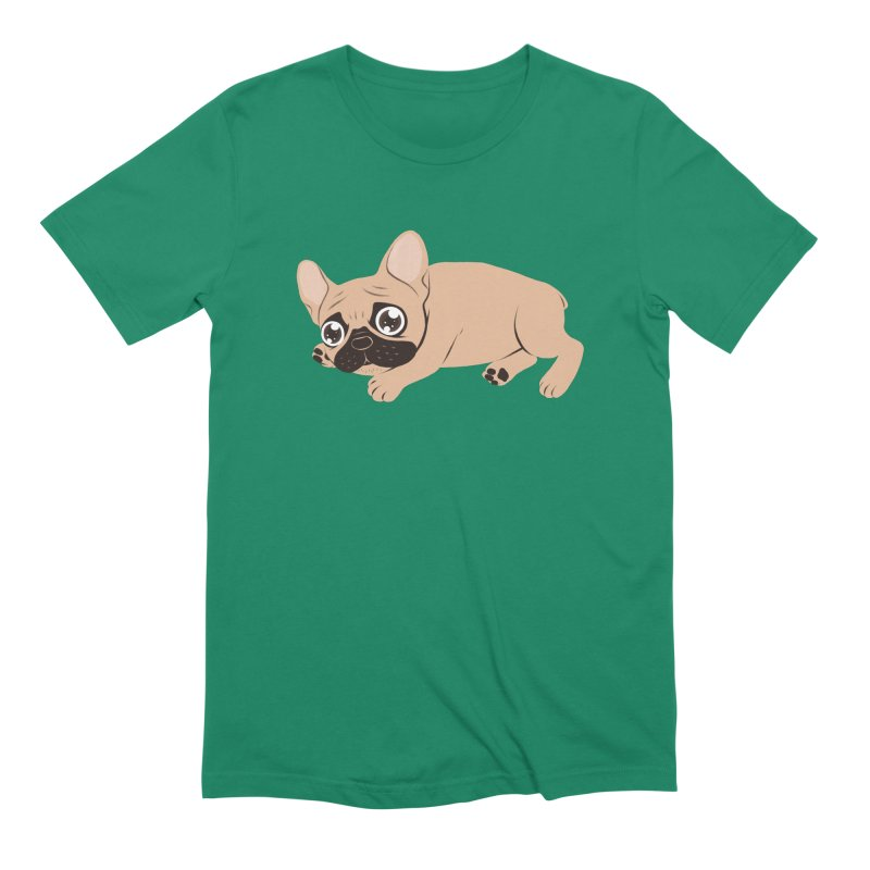 Black Mask Frenchie Puppy Needs Your Love Men's Extra Soft T-Shirt by Emotional Frenchies - Cute French Bulldog T-shirts