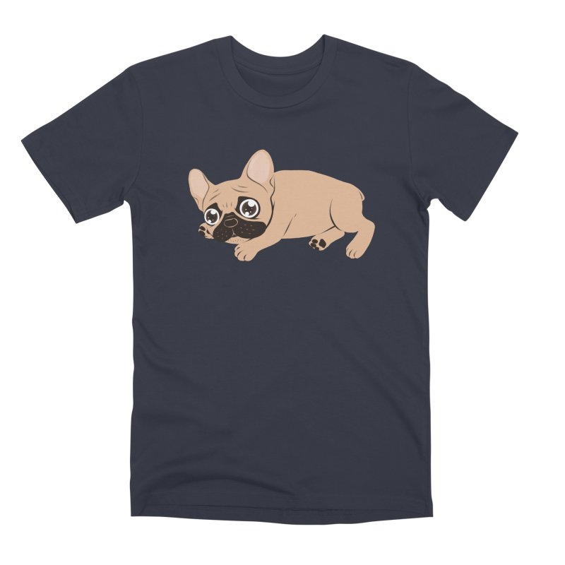 Black Mask Frenchie Puppy Needs Your Love Men's Premium T-Shirt by Emotional Frenchies - Cute French Bulldog T-shirts