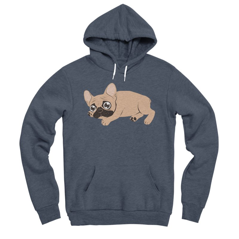 Black Mask Frenchie Puppy Needs Your Love Women's Sponge Fleece Pullover Hoody by Emotional Frenchies - Cute French Bulldog T-shirts