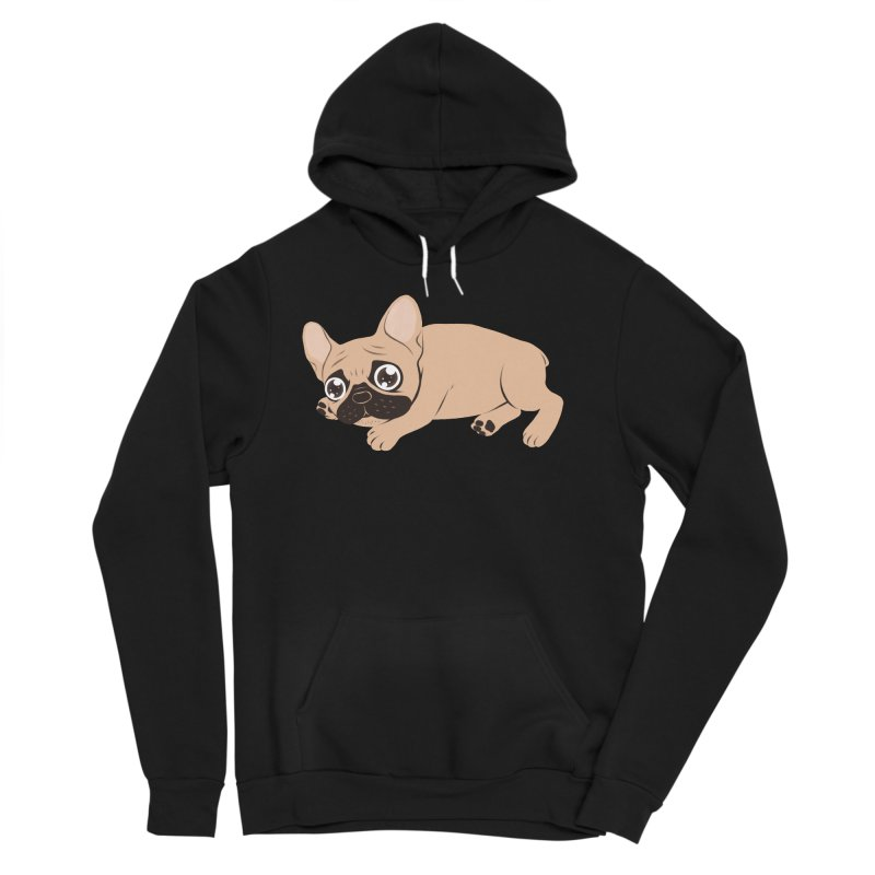 Black Mask Frenchie Puppy Needs Your Love Men's Sponge Fleece Pullover Hoody by Emotional Frenchies - Cute French Bulldog T-shirts