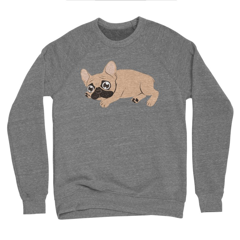Black Mask Frenchie Puppy Needs Your Love Men's Sponge Fleece Sweatshirt by Emotional Frenchies - Cute French Bulldog T-shirts