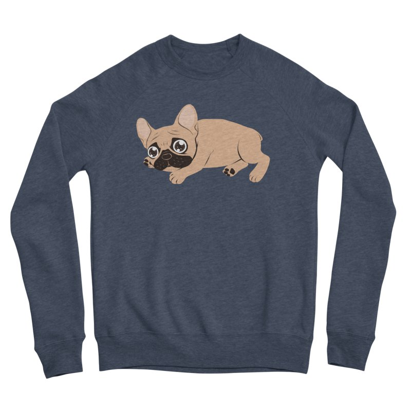 Black Mask Frenchie Puppy Needs Your Love Men's Sponge Fleece Sweatshirt by Emotional Frenchies - Cute French Bulldog T-shirts