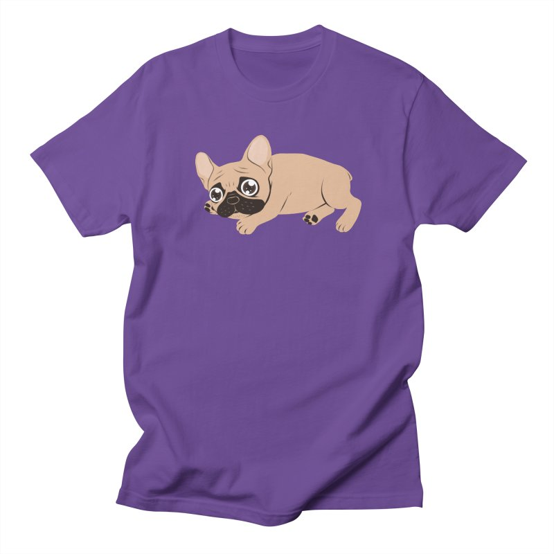 Black Mask Frenchie Puppy Needs Your Love Men's Regular T-Shirt by Emotional Frenchies - Cute French Bulldog T-shirts