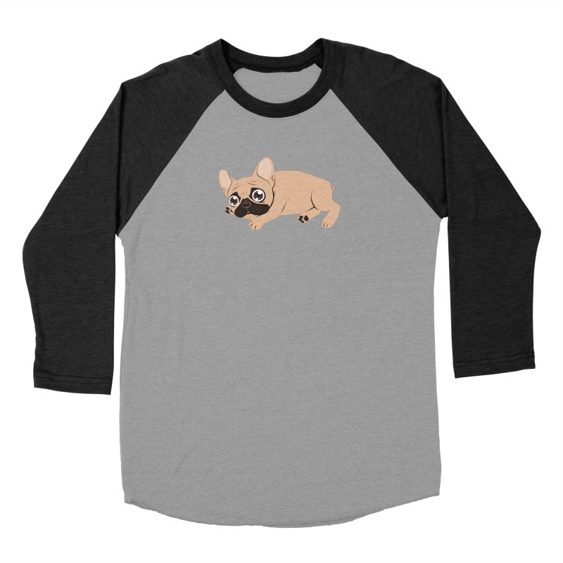 Black Mask Frenchie Puppy Needs Your Love Men's Longsleeve T-Shirt by Emotional Frenchies - Cute French Bulldog T-shirts