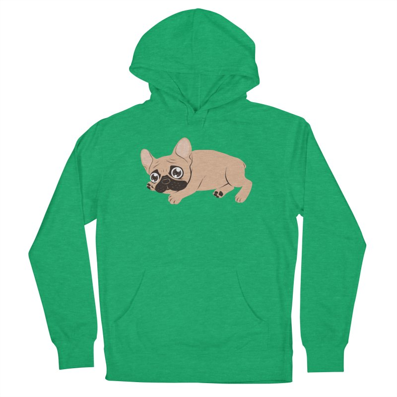 Black Mask Frenchie Puppy Needs Your Love Women's French Terry Pullover Hoody by Emotional Frenchies - Cute French Bulldog T-shirts