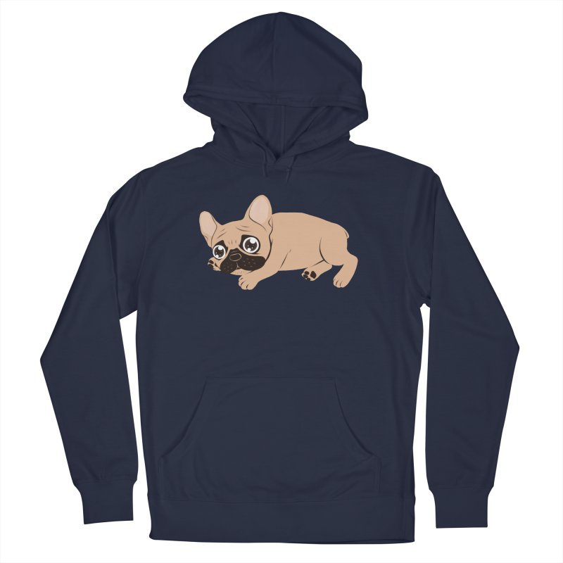 Black Mask Frenchie Puppy Needs Your Love Men's French Terry Pullover Hoody by Emotional Frenchies - Cute French Bulldog T-shirts
