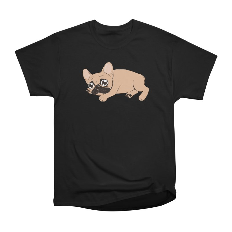 Black Mask Frenchie Puppy Needs Your Love Men's Heavyweight T-Shirt by Emotional Frenchies - Cute French Bulldog T-shirts