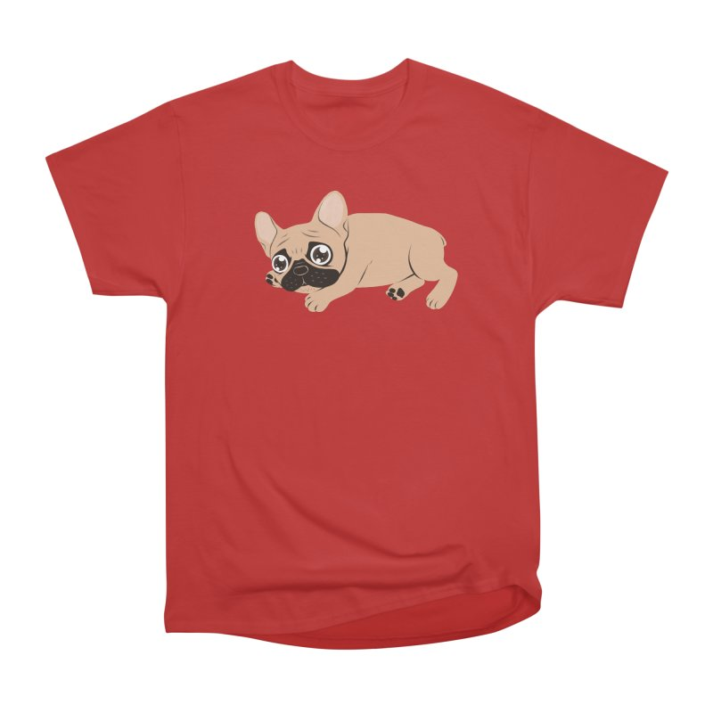 Black Mask Frenchie Puppy Needs Your Love Women's Heavyweight Unisex T-Shirt by Emotional Frenchies - Cute French Bulldog T-shirts