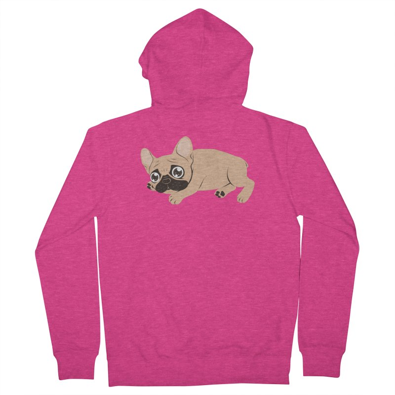 Black Mask Frenchie Puppy Needs Your Love Women's Zip-Up Hoody by Emotional Frenchies - Cute French Bulldog T-shirts