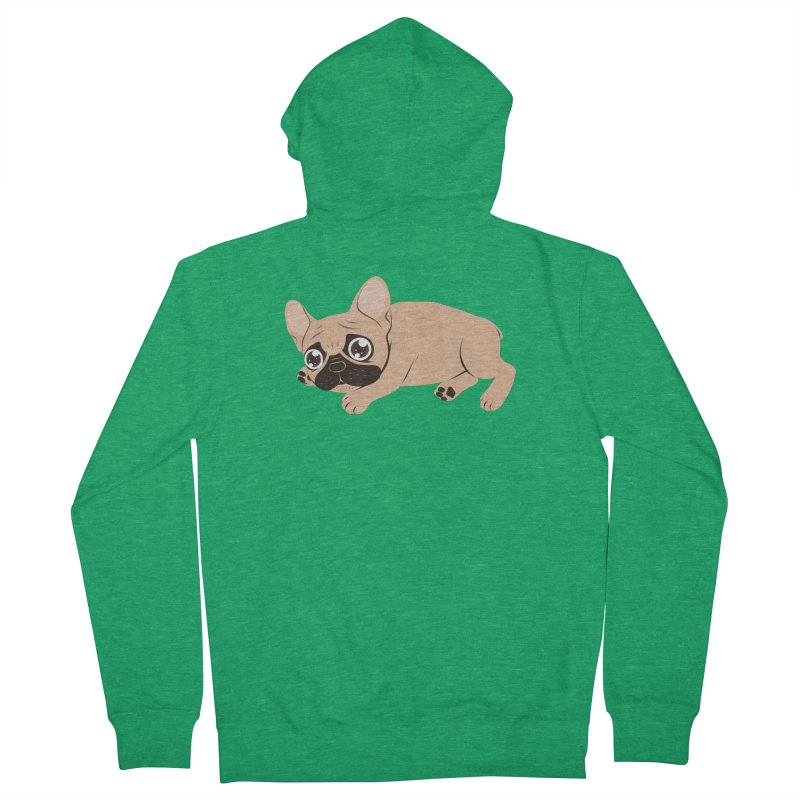 Black Mask Frenchie Puppy Needs Your Love Men's Zip-Up Hoody by Emotional Frenchies - Cute French Bulldog T-shirts