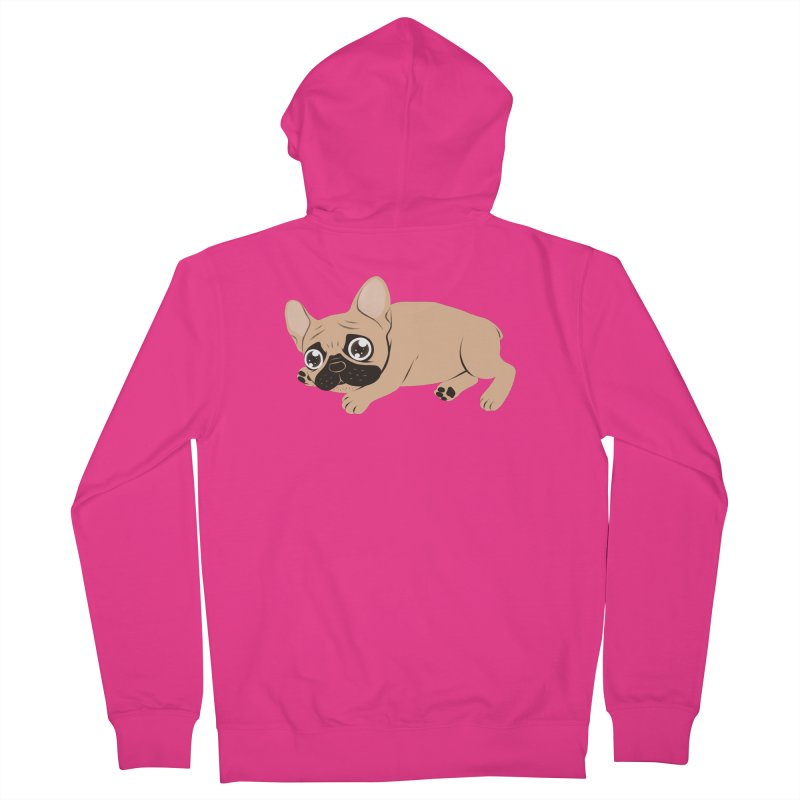 Black Mask Frenchie Puppy Needs Your Love Men's French Terry Zip-Up Hoody by Emotional Frenchies - Cute French Bulldog T-shirts