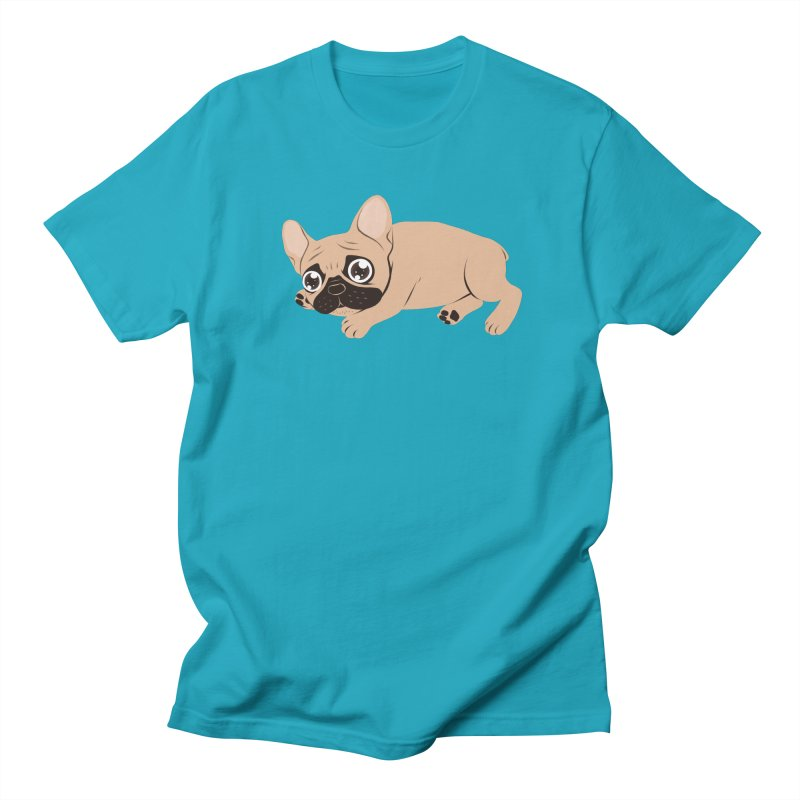 Black Mask Frenchie Puppy Needs Your Love Women's Regular Unisex T-Shirt by Emotional Frenchies - Cute French Bulldog T-shirts