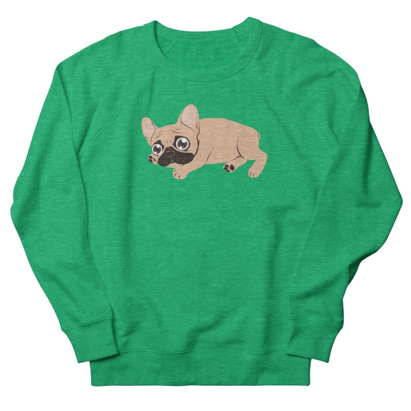 Black Mask Frenchie Puppy Needs Your Love Women's Sweatshirt by Emotional Frenchies - Cute French Bulldog T-shirts
