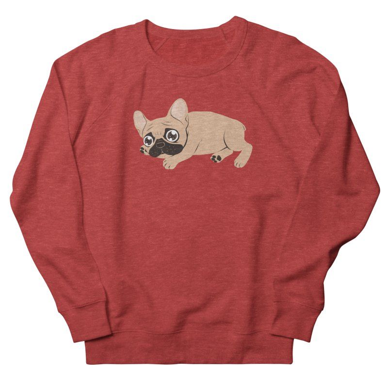 Black Mask Frenchie Puppy Needs Your Love Women's French Terry Sweatshirt by Emotional Frenchies - Cute French Bulldog T-shirts