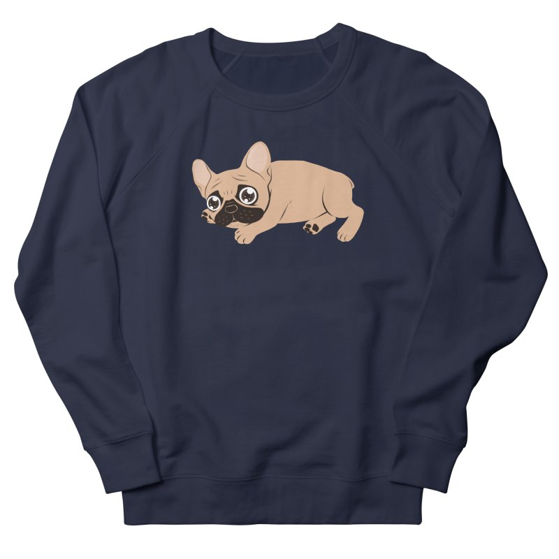Black Mask Frenchie Puppy Needs Your Love Men's French Terry Sweatshirt by Emotional Frenchies - Cute French Bulldog T-shirts