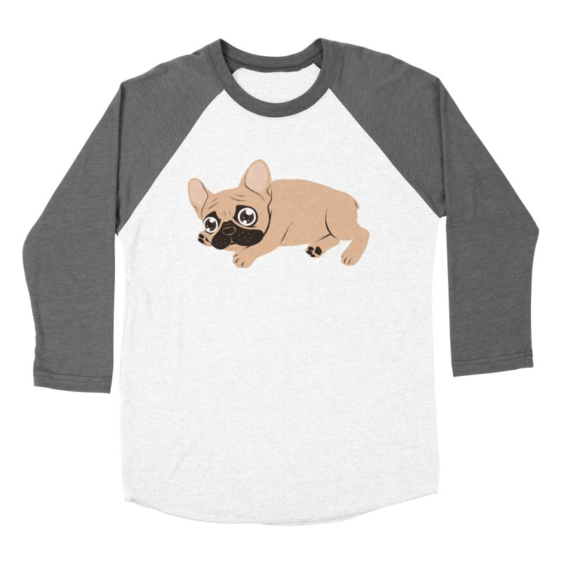 Black Mask Frenchie Puppy Needs Your Love Women's Baseball Triblend Longsleeve T-Shirt by Emotional Frenchies - Cute French Bulldog T-shirts