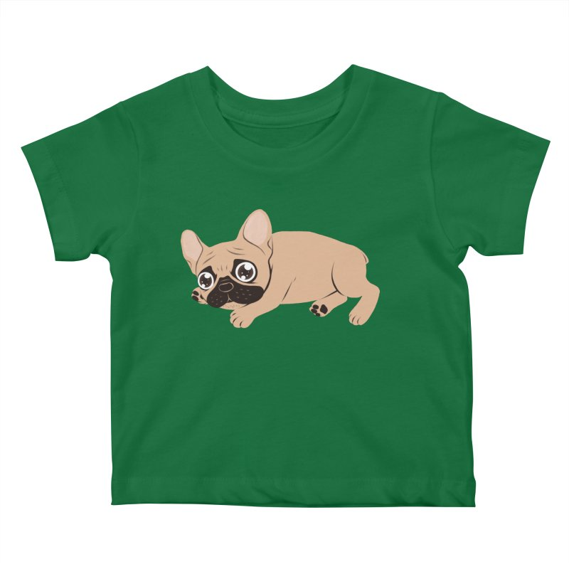 Black Mask Frenchie Puppy Needs Your Love Kids Baby T-Shirt by Emotional Frenchies - Cute French Bulldog T-shirts
