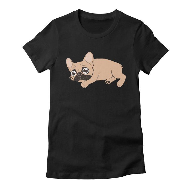 Black Mask Frenchie Puppy Needs Your Love Women's T-Shirt by Emotional Frenchies - Cute French Bulldog T-shirts