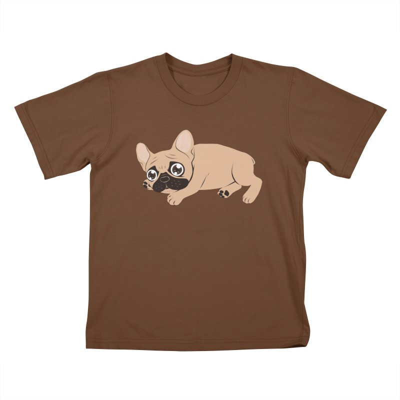 Black Mask Frenchie Puppy Needs Your Love Kids T-Shirt by Emotional Frenchies - Cute French Bulldog T-shirts