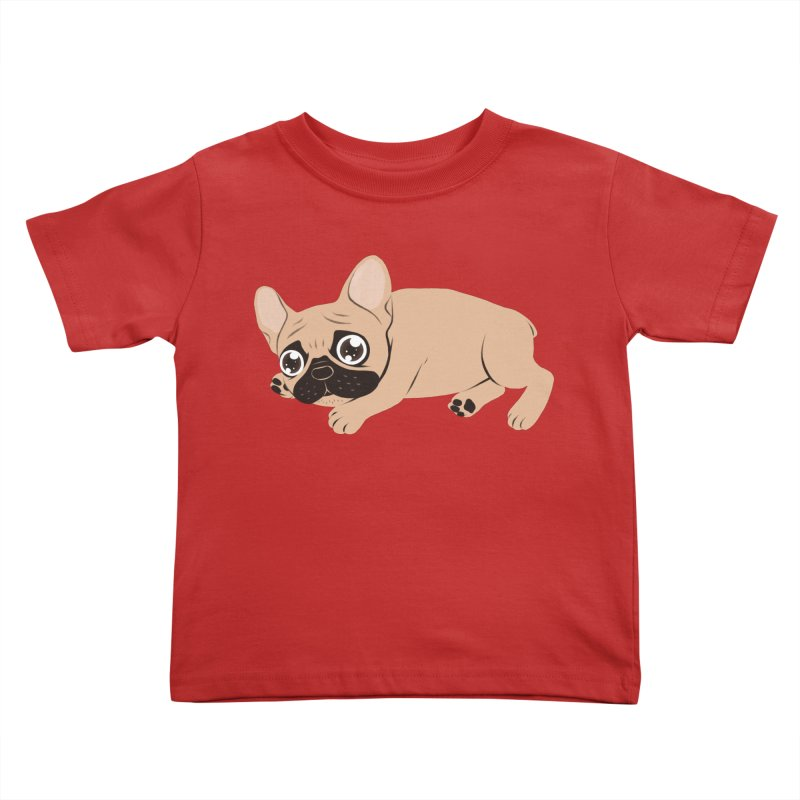 Black Mask Frenchie Puppy Needs Your Love Kids Toddler T-Shirt by Emotional Frenchies - Cute French Bulldog T-shirts