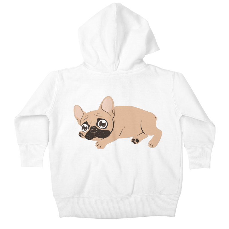 Black Mask Frenchie Puppy Needs Your Love Kids Baby Zip-Up Hoody by Emotional Frenchies - Cute French Bulldog T-shirts