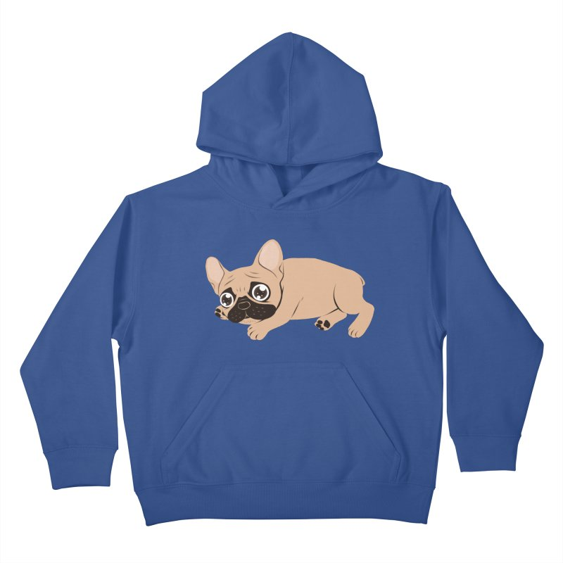 Black Mask Frenchie Puppy Needs Your Love Kids Pullover Hoody by Emotional Frenchies - Cute French Bulldog T-shirts