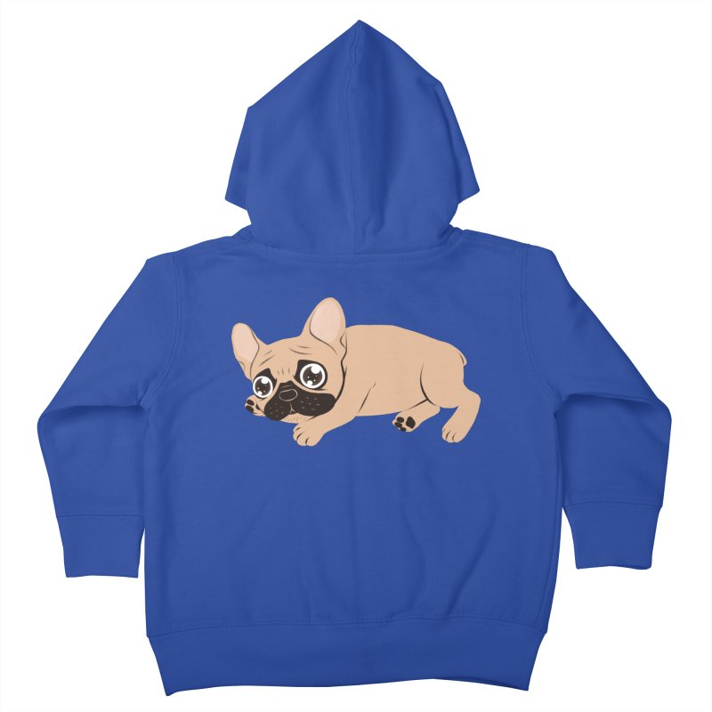 Black Mask Frenchie Puppy Needs Your Love Kids Toddler Zip-Up Hoody by Emotional Frenchies - Cute French Bulldog T-shirts
