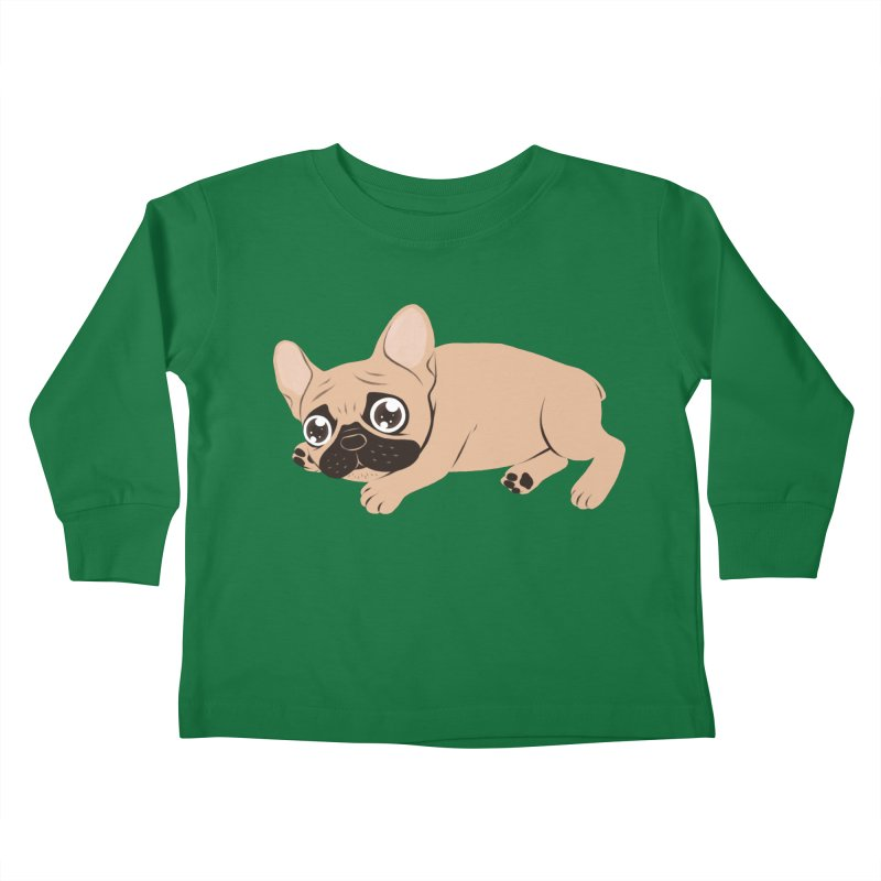 Black Mask Frenchie Puppy Needs Your Love Kids Toddler Longsleeve T-Shirt by Emotional Frenchies - Cute French Bulldog T-shirts