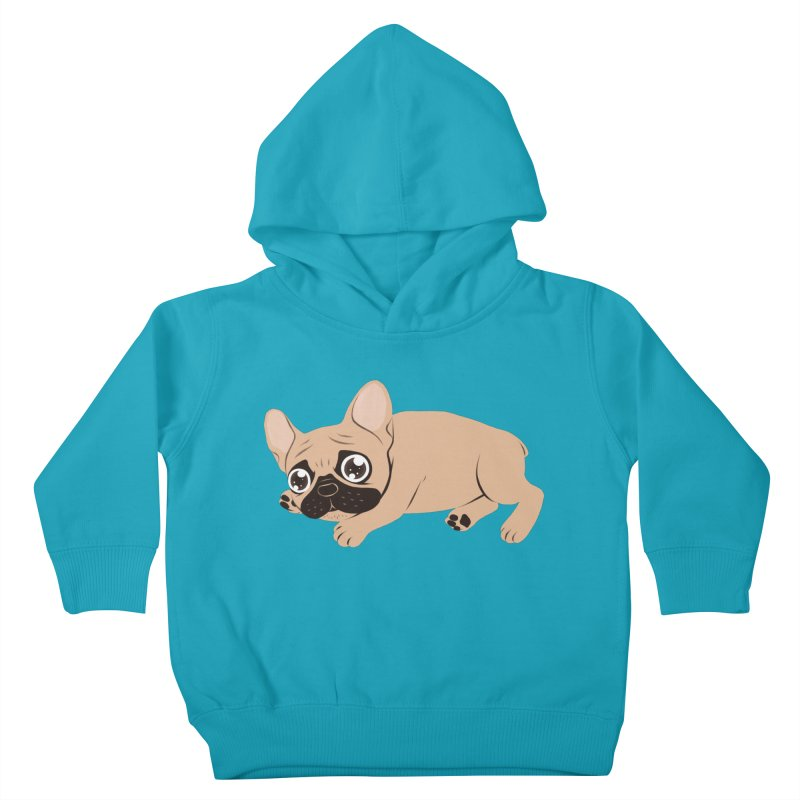 Black Mask Frenchie Puppy Needs Your Love Kids Toddler Pullover Hoody by Emotional Frenchies - Cute French Bulldog T-shirts