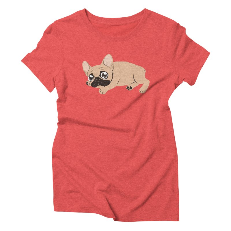 Black Mask Frenchie Puppy Needs Your Love Women's Triblend T-Shirt by Emotional Frenchies - Cute French Bulldog T-shirts