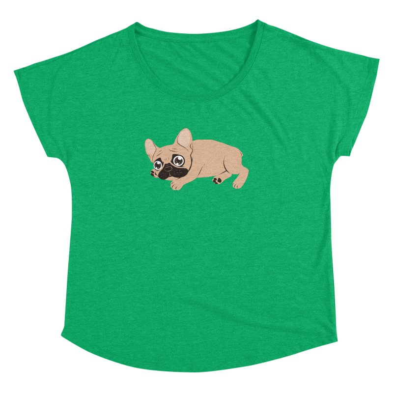 Black Mask Frenchie Puppy Needs Your Love Women's Dolman Scoop Neck by Emotional Frenchies - Cute French Bulldog T-shirts