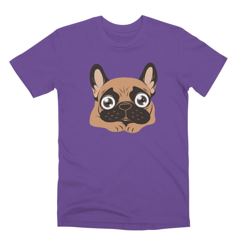 Black mask fawn Frenchie is ready to play Men's Premium T-Shirt by Emotional Frenchies - Cute French Bulldog T-shirts