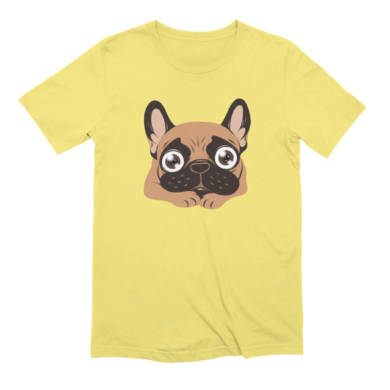 Black mask fawn Frenchie is ready to play Men's Extra Soft T-Shirt by Emotional Frenchies - Cute French Bulldog T-shirts