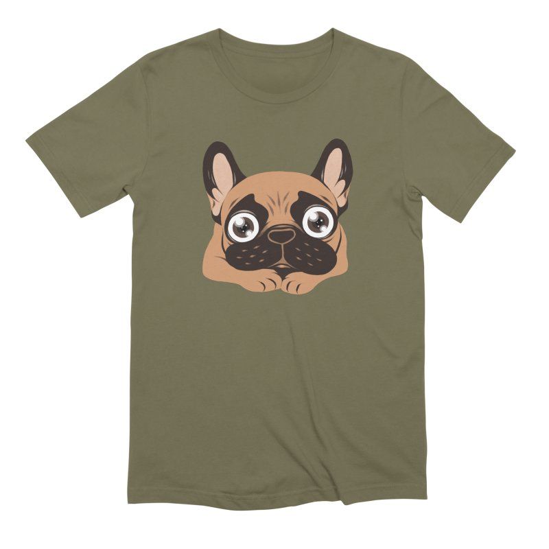 Black mask fawn Frenchie is ready to play Men's T-Shirt by Emotional Frenchies - Cute French Bulldog T-shirts