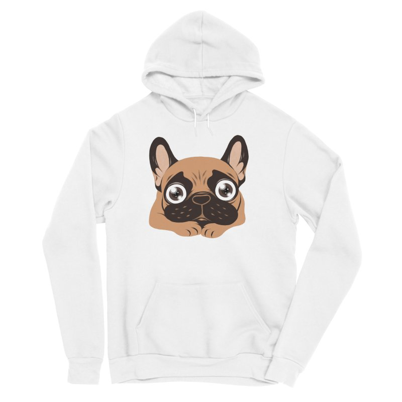 Black mask fawn Frenchie is ready to play Women's Sponge Fleece Pullover Hoody by Emotional Frenchies - Cute French Bulldog T-shirts