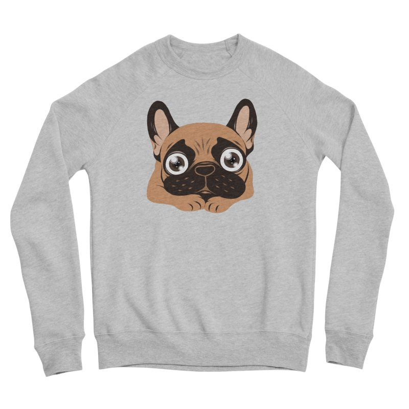 Black mask fawn Frenchie is ready to play Women's Sponge Fleece Sweatshirt by Emotional Frenchies - Cute French Bulldog T-shirts