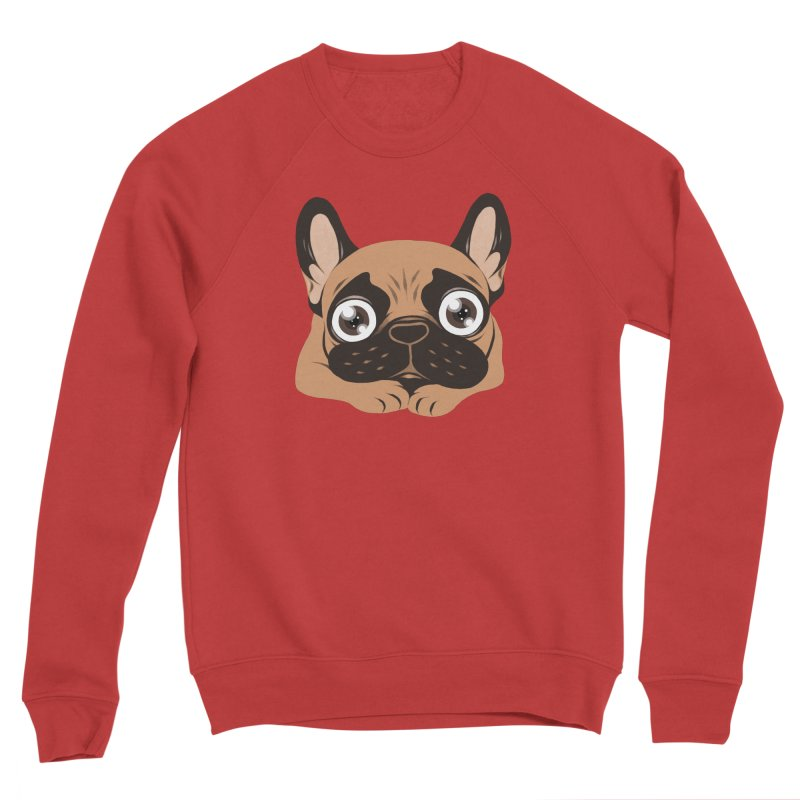 Black mask fawn Frenchie is ready to play Men's Sponge Fleece Sweatshirt by Emotional Frenchies - Cute French Bulldog T-shirts