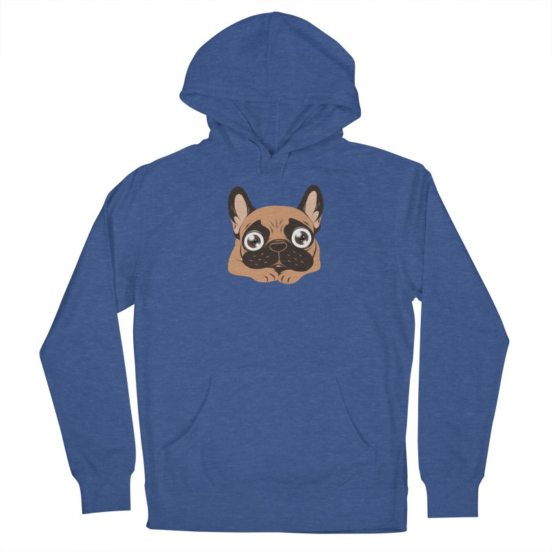 Black mask fawn Frenchie is ready to play Men's Pullover Hoody by Emotional Frenchies - Cute French Bulldog T-shirts