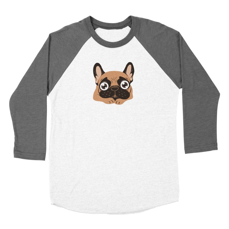 Black mask fawn Frenchie is ready to play Women's Longsleeve T-Shirt by Emotional Frenchies - Cute French Bulldog T-shirts