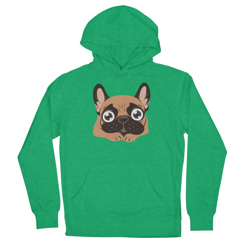 Black mask fawn Frenchie is ready to play Women's French Terry Pullover Hoody by Emotional Frenchies - Cute French Bulldog T-shirts