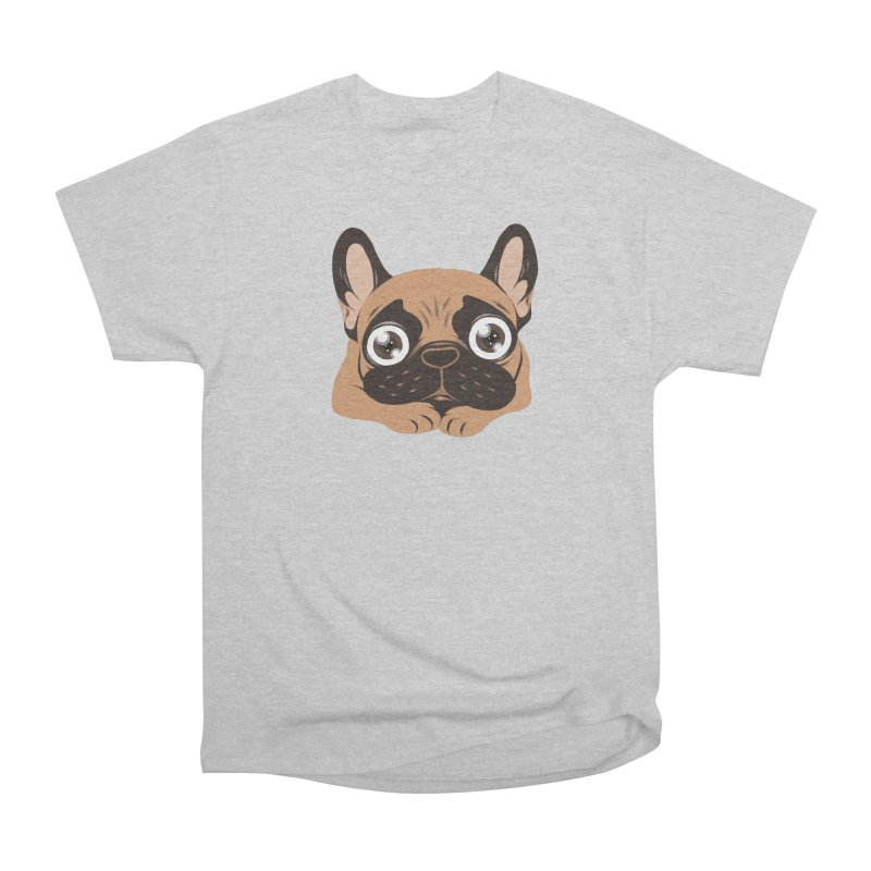 Black mask fawn Frenchie is ready to play Women's Heavyweight Unisex T-Shirt by Emotional Frenchies - Cute French Bulldog T-shirts