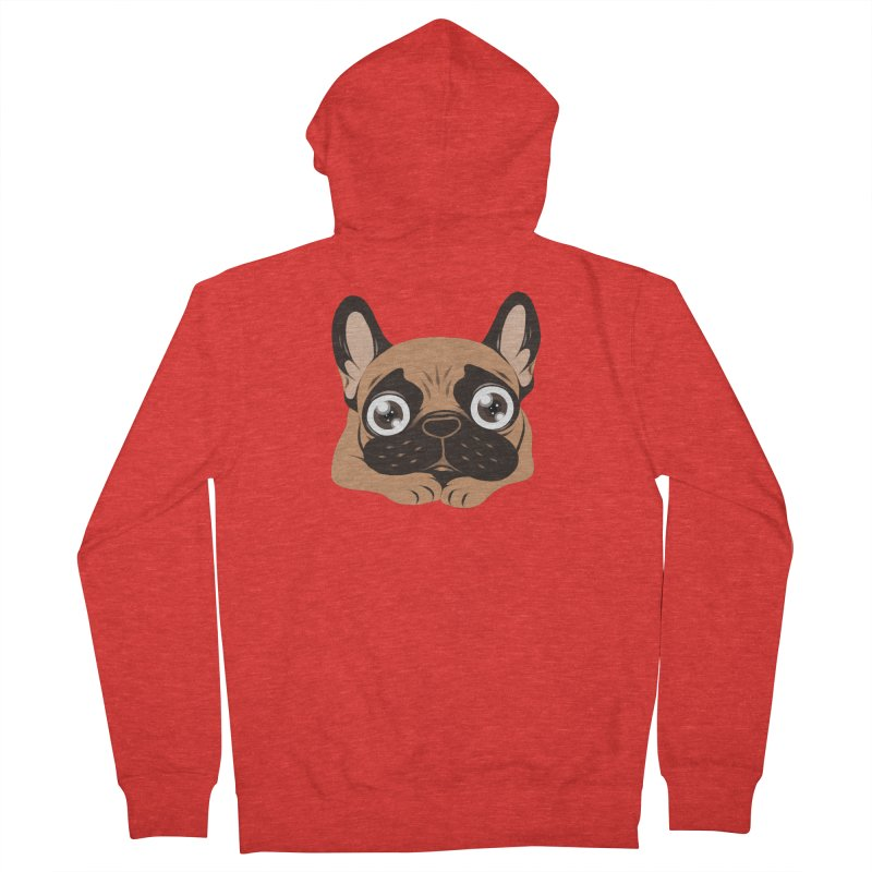 Black mask fawn Frenchie is ready to play Women's Zip-Up Hoody by Emotional Frenchies - Cute French Bulldog T-shirts
