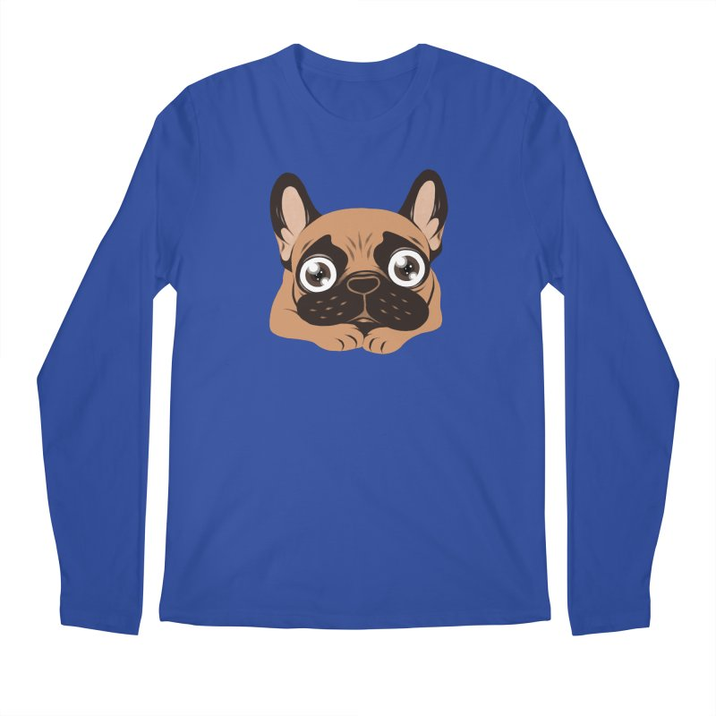 Black mask fawn Frenchie is ready to play Men's Regular Longsleeve T-Shirt by Emotional Frenchies - Cute French Bulldog T-shirts
