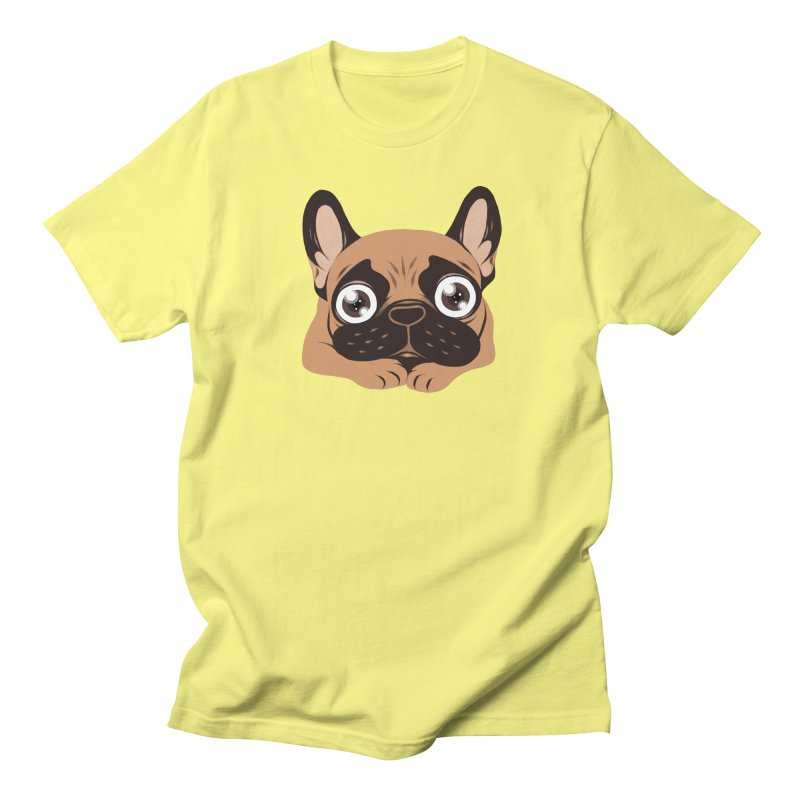 Black mask fawn Frenchie is ready to play Men's Regular T-Shirt by Emotional Frenchies - Cute French Bulldog T-shirts