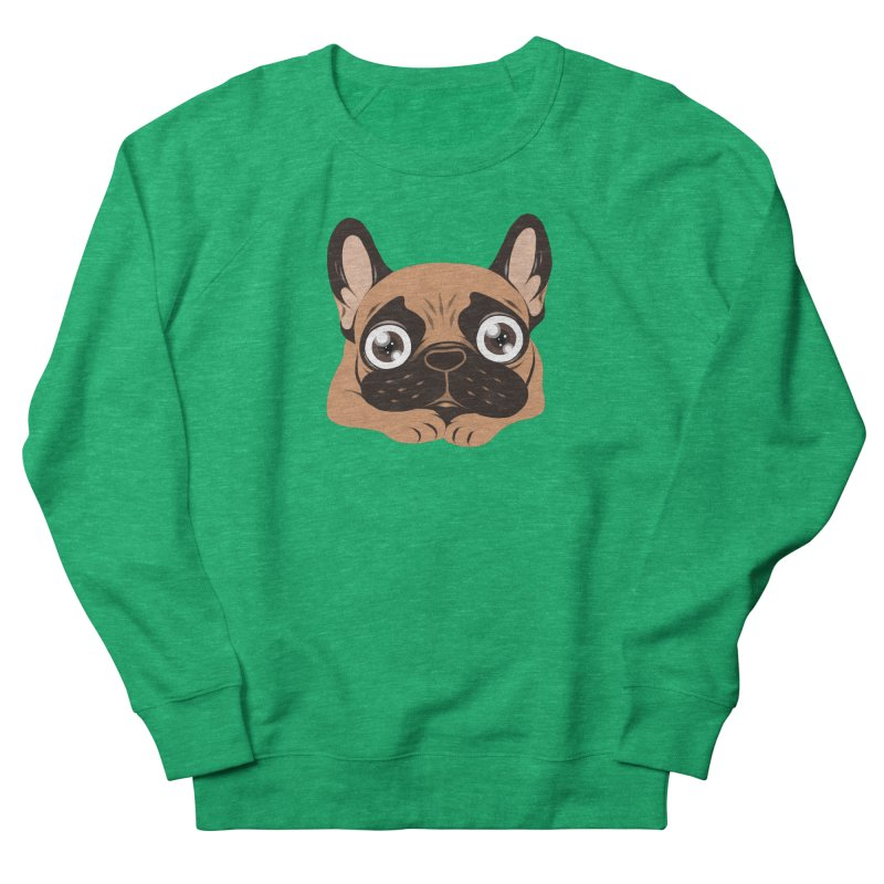 Black mask fawn Frenchie is ready to play Women's Sweatshirt by Emotional Frenchies - Cute French Bulldog T-shirts