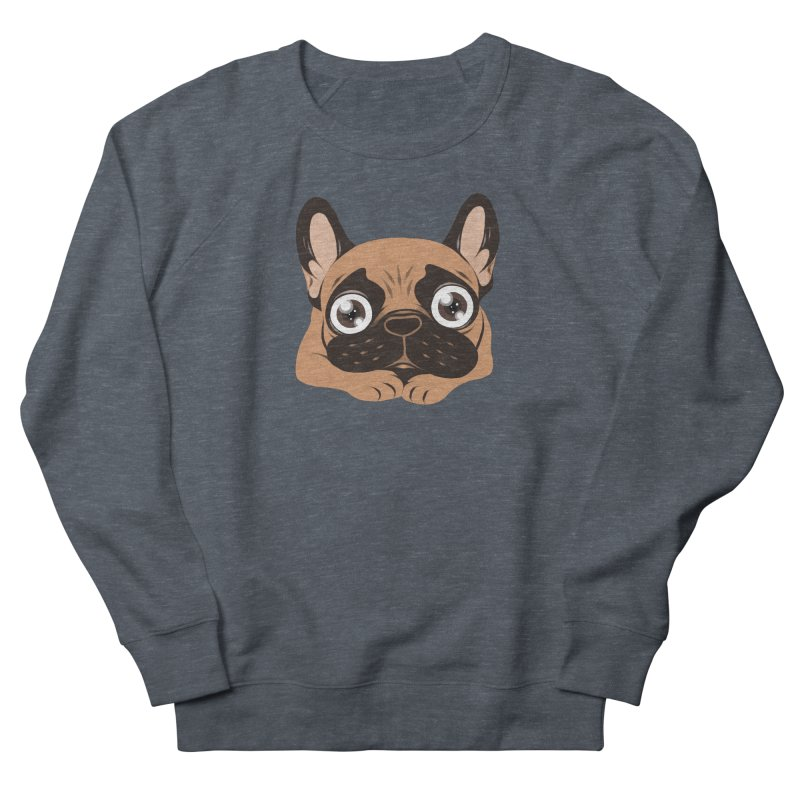 Black mask fawn Frenchie is ready to play Men's French Terry Sweatshirt by Emotional Frenchies - Cute French Bulldog T-shirts