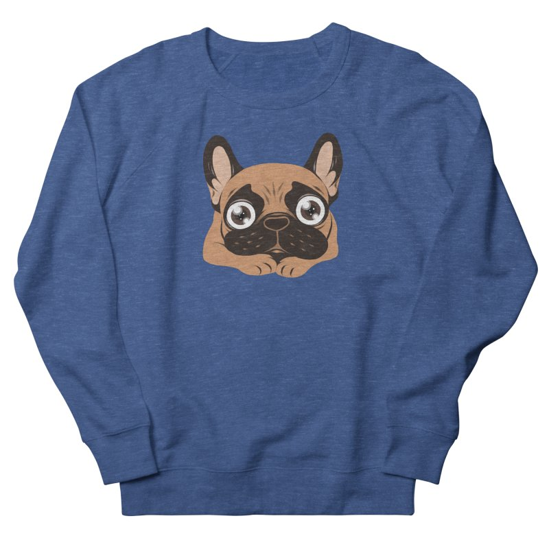Black mask fawn Frenchie is ready to play Men's Sweatshirt by Emotional Frenchies - Cute French Bulldog T-shirts